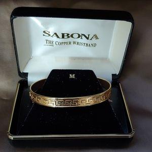 Vintage Sabona Copper Bracelet - 24K Gold Plated